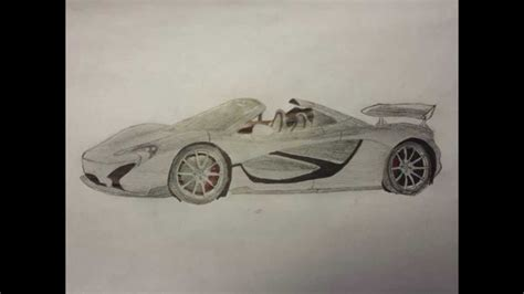 mclaren p1 drawing easy how to draw a mclaren p1 youtube