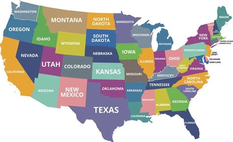 iowa state in usa map what are the smallest states in the u s