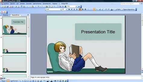 reading themes for powerpoint reading book powerpoint template