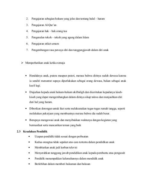 cara membuat makalah agama islam makalah agama islam cara mendidik anak