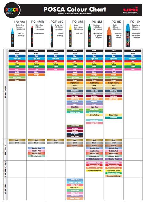 uni colors posca pc 8k box 8 assorted colour bundle