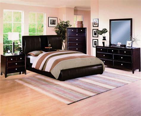 Brown Bedroom Suite flynn brown bycast upholstered platform bed 6