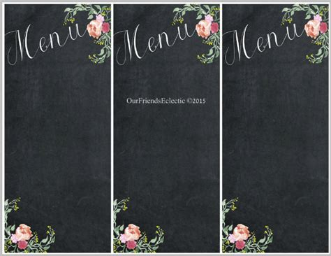 30 Blank Menu Templates Ai Psd Docs Pages Free Premium Templates Blank Chalkboard Invitation Template