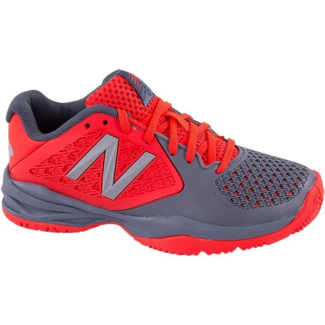 new balance kc 996 junior tennis shoe grey orange