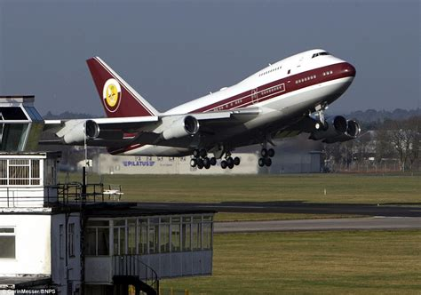 this boeing 747 is being luxury jet used by qatari royal family goes on