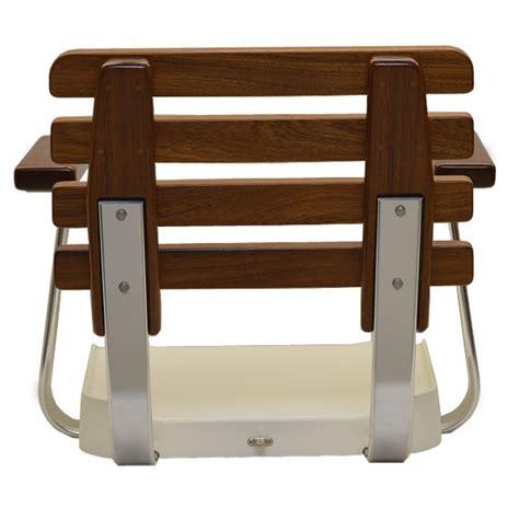 boat helm chairs pompanette t3373 posi teak fiberglass boat helm seating