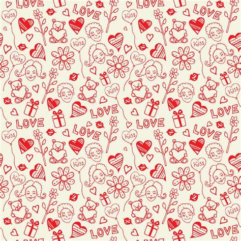 love pattern pinterest romantic love seamless pattern vector free vector