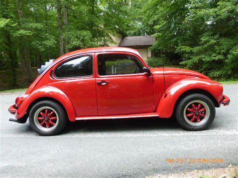 vw super beetle cal  restoration red