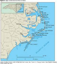 map carolina coast map of carolina coast of beaches rivers and lakes