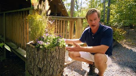 How To Make A Planter by How To Make Wood Log Planters At Home With P Allen