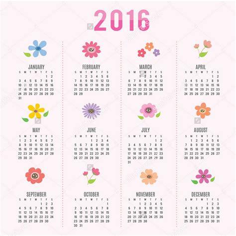 Cute Calendar 2017 Template