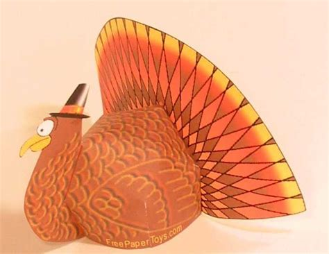 Papercraft Turkey - papercraft friday 16 thanksgiving turkey zarkseven