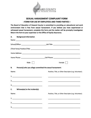 Sexual Harassment Complaint Form Charlotte Clergy Coalition Sexual Harassment Form Template