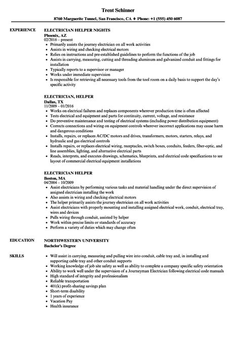 Electrician Helper Resume by Resume For Electrician Helper Sanitizeuv Sle