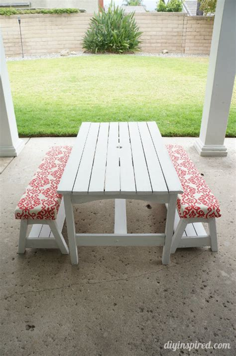 picnic bench cover diy picnic bench cushions