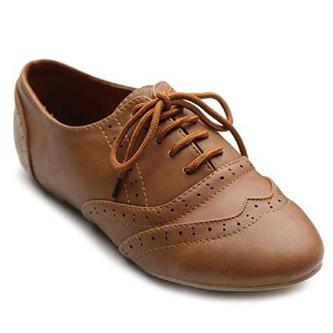 womens dress oxford shoes ollio s shoe classic lace up dress low flat heel