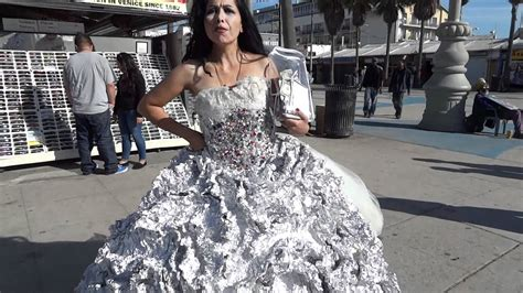At Tin Dress by Made Tin Foil Dress Venice California Jan 8