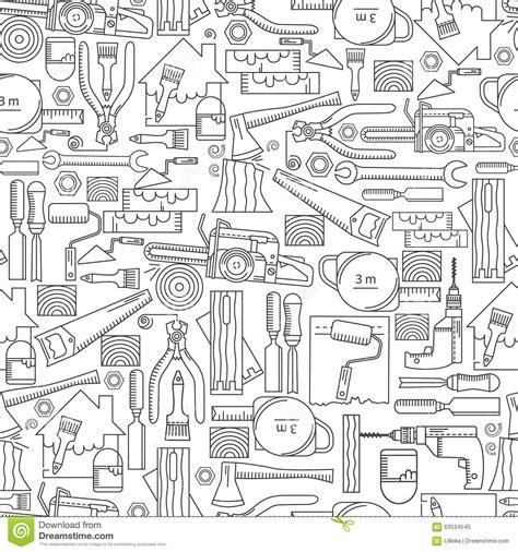 seamless pattern tool seamless pattern construction tools stock illustration