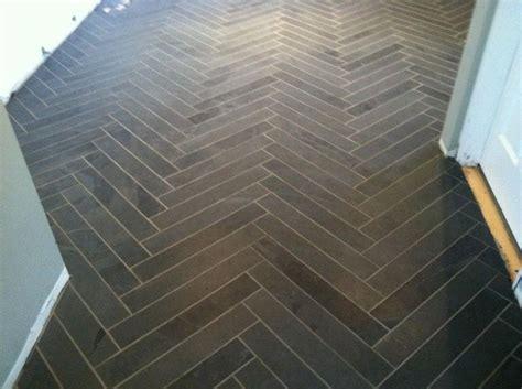 herringbone slate floor for the home pinterest