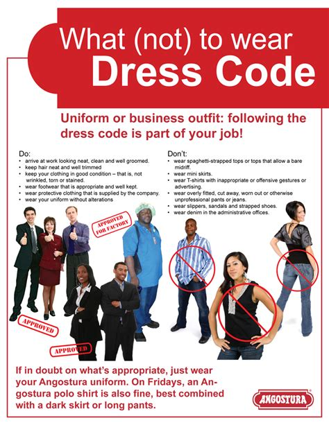 Dress Code Poster Caign Poster Template