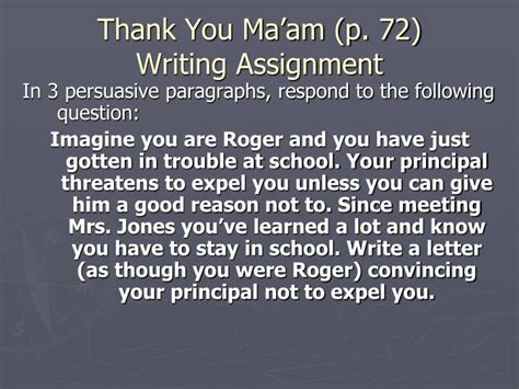 Thank You Ma Am Essay by Ppt The Story Powerpoint Presentation Id 4238881