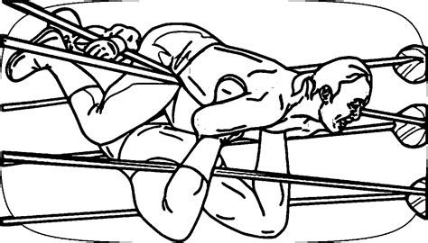 wrestling coloring pages coloringsuite com