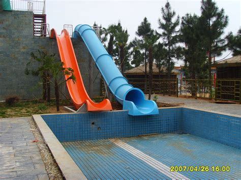 water slides for backyard pools china outdoor swimming pool slide hzq 09 10 china water slide water park slides