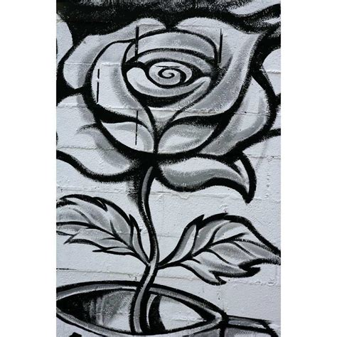 Wall Murals Cityscapes black and white graffiti rose wall mural majestic wall art