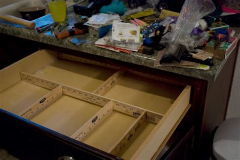 diy drawer organizer nifty drawer organizer 14 diy yardstick upcycling projects