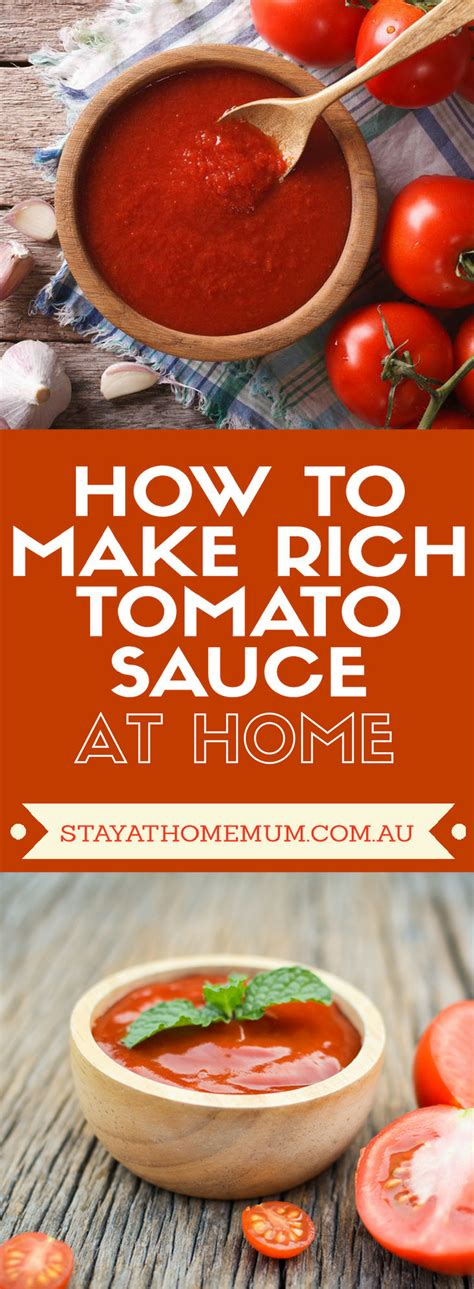how to make rich tomato sauce at home