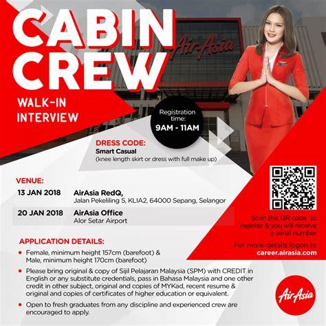 air cabin crew recruitment fly gosh air asia cabin crew recruitment walk in