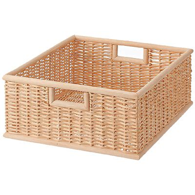 muji baskets buri square basket m stackable