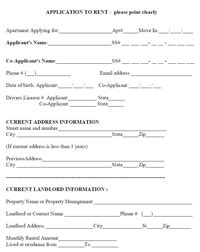 Download Rental Application Credit Check Template Rental Credit Application Form Template