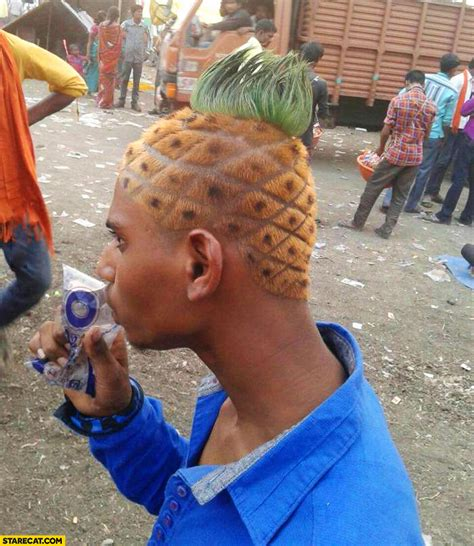 pineapple hairstyle man with pineapple hairstyle starecat com