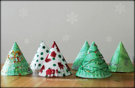 paper christmas tree hat pattern sun hats wellie boots elf trees paper plate twig tree