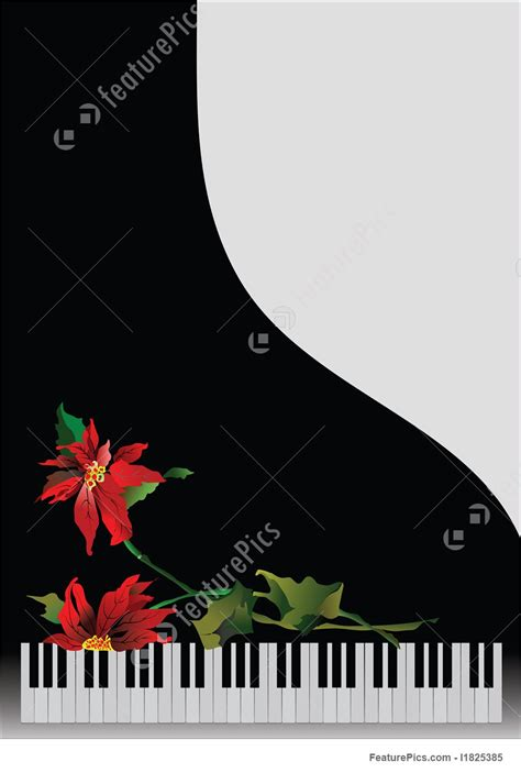piano greeting card templates illustration of template greeting card with piano and flower