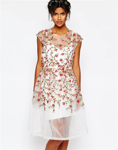 White Frock For Wedding by Frock Wedding Embroidered Dress Lyst