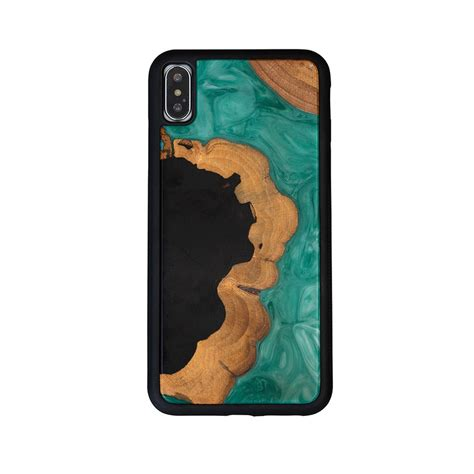nature fusion wood resin green case  iphone xr xs max wood eco materials shop