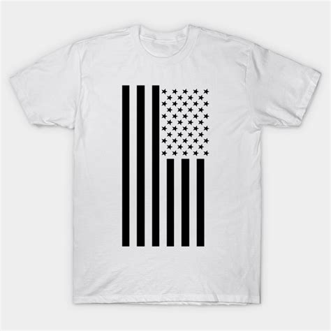 flag white black black white american flag usa t shirt teepublic