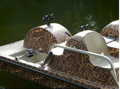 duck hunting inflatable boat duck hunting pedal boat in action 3