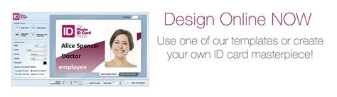 make your own id card template plastic id cards photo id card and badges