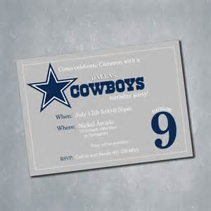 dallas cowboys digital birthday invitation nfl by meghansview