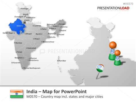 india map ppt template powerpoint maps of all asia pacific countries