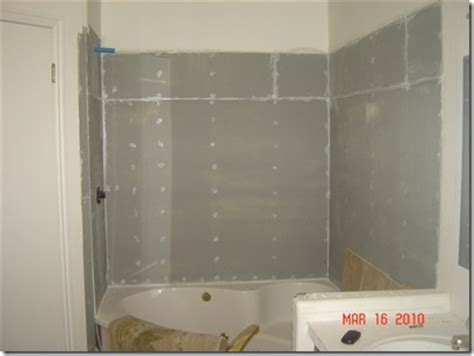 Densshield Shower by Master Bathroom Reconstruction Part 2 Of 3 Home Hinges