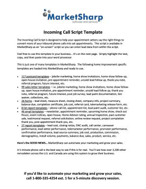 Sales Tracking Templates Forms Fillable Printable Sles For Pdf Word Pdffiller Sales Call Script Template