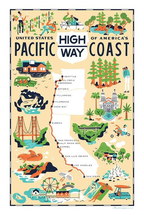 Pch Road Trip Map - 25 best ideas about pacific coast highway on pinterest highway road pacific coast