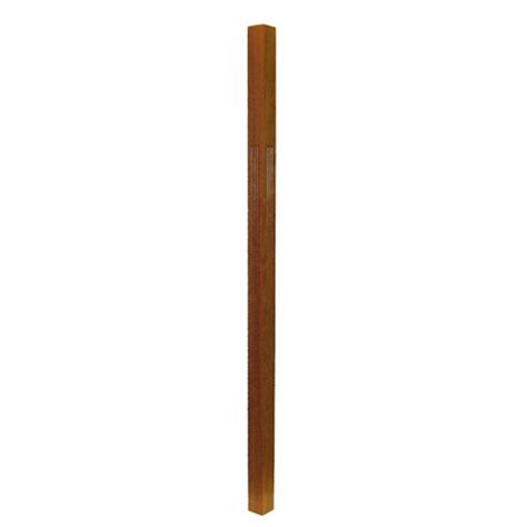 Rod Iron Handrails 200 Fluted Wood Baluster Stairsupplies