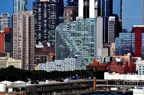 Mercedes New York City new york city skyline with mercedes house photograph by