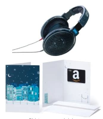 Specs Gift Cards - hot deal amazon sennheiser headphones 150 gift card points miles martinis