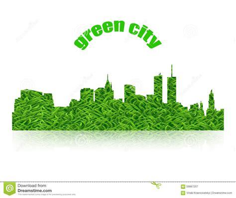 Eco Concept Green City Logo With Shadow Stock Vector Illustration Of Logo Home 59867207 Green Concept Logo Vectors